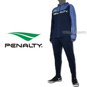 PENALTY ペナルティ ジャージ上下 裏起毛フルジップパーカー&ウォームジョガーパンツ PO0014-NVY-PO0328-NVY サッカー フットサル|hiyamasp