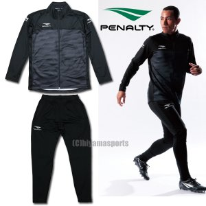 PENALTY ペナルティ ジャージ上下 トレーニングジャケット&トレーニングスリムロングパンツ PO0413-BLK-PO0414-BLK サッカー フットサル|hiyamasp