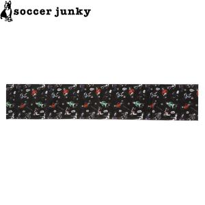 soccer junky サッカージャンキー ドリブラーズ柄 スポーツタオル SJ19036-BLK サッカー フットサル|hiyamasp