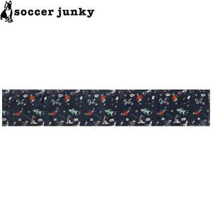 soccer junky サッカージャンキー ドリブラーズ柄 スポーツタオル SJ19036-NVY サッカー フットサル|hiyamasp