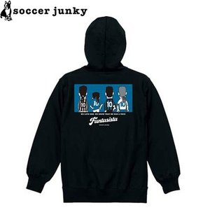 soccer junky サッカージャンキー スウェットZIPパーカー The back of the fantasista SJ19620-BLK サッカー フットサル|hiyamasp