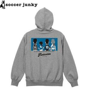 soccer junky サッカージャンキー スウェットZIPパーカー The back of the fantasista SJ19620-GRY サッカー フットサル|hiyamasp