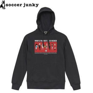 soccer junky サッカージャンキー スウェットパーカー We are free kicker SJ19623-BLK サッカー フットサル|hiyamasp