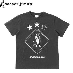 soccer junky サッカージャンキー 半袖Tシャツ Peace+3 SJ21112-BLK サッカー フットサル|hiyamasp
