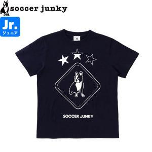 soccer junky サッカージャンキー ジュニア半袖Tシャツ Peace+3 SJ21112K-NVY サッカー フットサル|hiyamasp