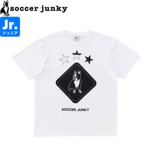 soccer junky サッカージャンキー ジュニア半袖Tシャツ Peace+3 SJ21112K-WHT サッカー フットサル|hiyamasp