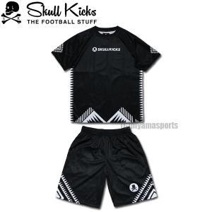 SKULL KICKS スカルキックス トライバルプラシャツ&トライバルプラパンセット SK20-006-BLK-SK20-007-BLK フットサル サッカー|hiyamasp