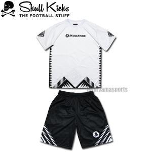 SKULL KICKS スカルキックス トライバルプラシャツ&トライバルプラパンセット SK20-006-WHT-SK20-007-BLK フットサル サッカー|hiyamasp