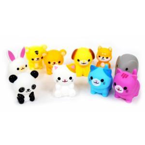 犬や猫パンダ象などイヌやネコなどの、動物のソフト人形フィギュアです。 水にプカプカ浮きますのでお風呂...