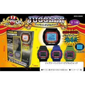 ジャグラー バックライト デジタルウォッチ 時計 腕時計 juggler-gogo-watch|hiyoshiya