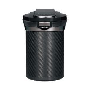 カーアクセサリー  6大機能搭載 愛煙缶プレミアム カーボン調 ブラック【DZ186】|hkbsports