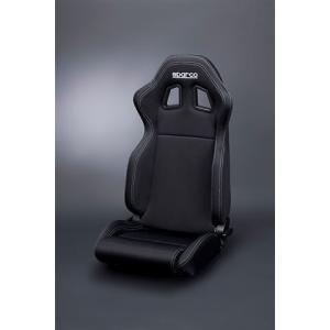 sparco(スパルコ) R100バケットシート リクライニングモデルブラック/ブラックボーダー(ホワイトステッチ) hkbsports
