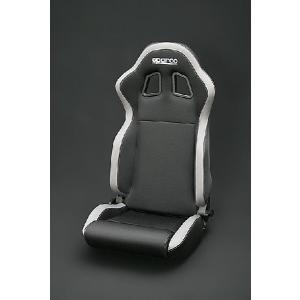 sparco(スパルコ) R100バケットシート リクライニングモデル ブラック/グレーボーダー(グレーステッチ) hkbsports