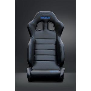 sparco(スパルコ) R100バケットシートリクライニングモデル SKY(スカイ)PVCブラックレザー ブルーステッチ|hkbsports