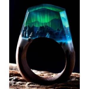 Secret Wood Ring  Aurora Borealis シークレットウッド リング オーロラボレアリス|hkd-tsutayabooks