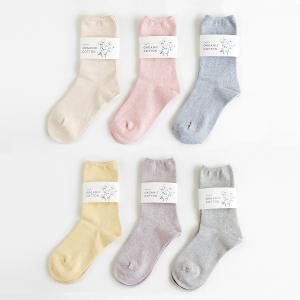 【YUiNO】オーガニックコットン ソックス ボタニカルダイ 22~24cm 締め付けの少ない靴下|hkt-tsutayabooks