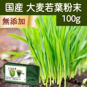 国産・大麦若葉粉末100g 無添加 100% 青汁スムージーに 野菜不足の方に 無農薬|hl-labo