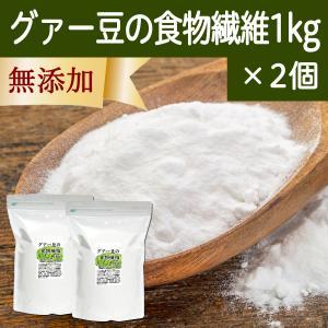 グァー豆の食物繊維 1kg×2個 ガラクトマンナン グアーガム グァーガム 水溶性食物繊維 プロバイオティクス 酵素分解物 徳用 ダイエタリーファイバー hl-labo