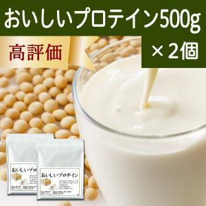おいしいプロテイン500g×2個 溶けやすい ソイプロテイン 大豆由来 アミノ酸スコア100 hl-labo