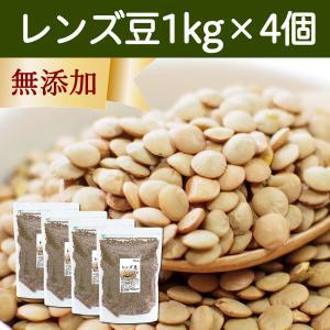 レンズ豆1kg×4袋 ブラウン 茶色 スーパーフード 亜鉛 鉄分 葉酸 ミネラル含有 食物繊維 アメリカ産 カレーに 煮込み料理に|hl-labo