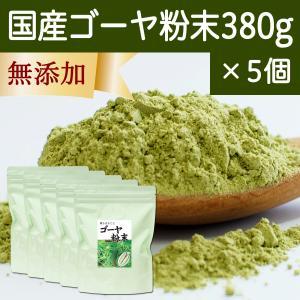 国産ゴーヤ粉末 380g×5個 沖縄産 青汁 サプリメント 無添加 まるごと 丸ごと 100% ゴーヤー パウダー 苦瓜 にがうり ジュースに|hl-labo