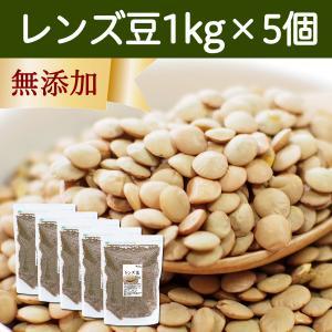 レンズ豆1kg×5袋 ブラウン 茶色 スーパーフード 亜鉛 鉄分 葉酸 ミネラル含有 食物繊維 アメリカ産 カレーに 煮込み料理に|hl-labo