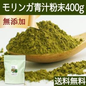 送料無料 モリンガ青汁粉末 400g 農薬不使用 無添加 100% フィリピン産 スーパーフード ミラクルツリー|hl-labo