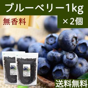 ブルーベリー1kg×2個 ドライフルーツ チャック付き袋 送料無料|hl-labo
