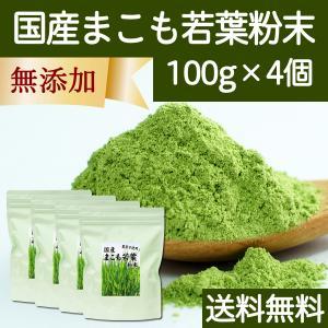 送料無料 国産まこも若葉粉末100g×4個 真菰パウダー マクロビオティック 農薬不使用 マコモ 青汁 マコモダケ まこもたけ hl-labo