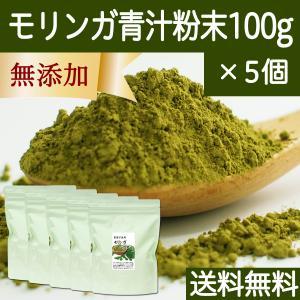 送料無料 モリンガ青汁粉末 100g×5個 農薬不使用 無添加 100% フィリピン産 スーパーフード ミラクルツリー|hl-labo