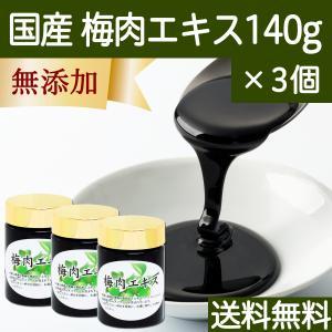 国産梅肉エキス140g×3個 無添加 ばいにく ウメ エキス ペースト 送料無料 hl-labo