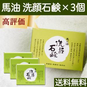 馬油洗顔石鹸120g×3個 無添加 無香料 無着色 馬の油 せっけん 送料無料 hl-labo