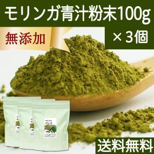 送料無料 モリンガ青汁粉末 100g×3個 農薬不使用 無添加 100% フィリピン産 スーパーフード ミラクルツリー hl-labo