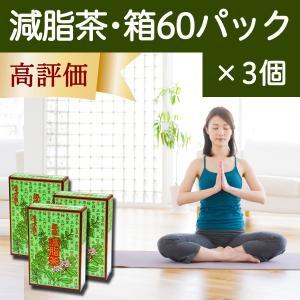 減脂茶・箱60パック×3個 ギムネマ、甘草、決明子、サンザシ配合のダイエット茶|hl-labo