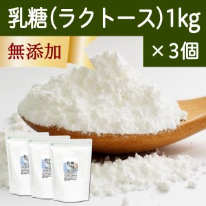 乳糖1kg×3個 純白マイクロパウダー 舌にざらつかない微粒子粉末 ラクトース 製菓に 無添加 善玉菌 増やす サプリメント|hl-labo
