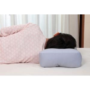 【限定クーポン】消臭炭わた入り 横向き楽寝枕 カバー付き hl1