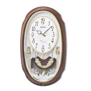 直送品 代引き不可 SEIKO セイコークロック 電波クロック アミューズ掛時計 ウエーブシンフォニー AM260Aご注文後2〜3営業日後の出荷となります|hl1