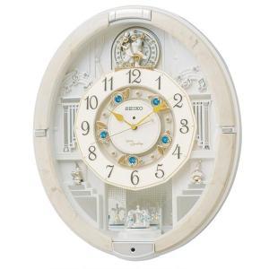 直送品 代引き不可 SEIKO セイコークロック 電波クロック 掛時計 からくり時計 ウエーブシンフォニー RE576Aご注文後2〜3営業日後の出荷となります|hl1