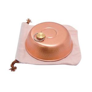直送品 代引き不可 新光堂 銅製ドーム型湯たんぽ(大) S-9398L