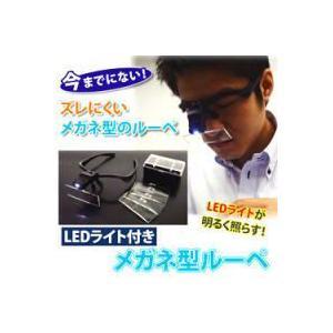 【限定クーポン】LEDライト付き メガネ型ルーペ|hl1