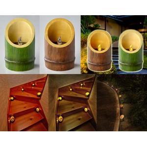 【限定クーポン】風情のある竹風ソーラー灯篭 単品|hl1