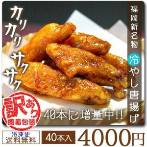 冷やし唐揚げ 4パック セット からあげ 福岡名物 送料無料 おかず ご飯 料理 paypay Tポ...