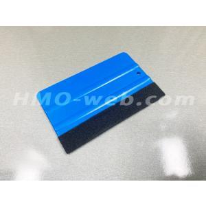 カードスキージーフェルト付き(約125mm)ステッカー・シール・カッティングシート施工道具|hmo-web