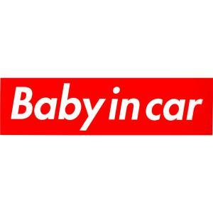 カーマグネット Baby in car Supreme Box Logoオマージュ /シュプリーム/ベビーインカー/ボックスロゴ/