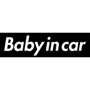 カーマグネット Baby in car 箱枠 黒