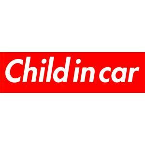 カーマグネット Child in car 箱枠 赤