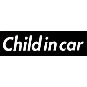 カーマグネット Child in car 箱枠 黒