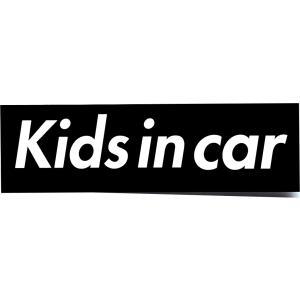 カーステッカー Kids in car 箱枠 黒