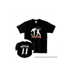 Tシャツ(背番号あり) 黒 / XL|大谷翔平 × 高橋陽一 コラボグッズ  〔OTHER〕|hmv