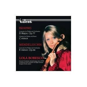 Brahms ブラームス / ブラームス:ヴァイオリン協奏曲、メンデルスゾーン:ヴァイオリン協奏曲 ローラ・ボベ hmv